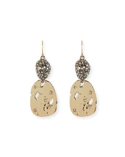 Pavé Pod & Rocky Disc Drop Earrings