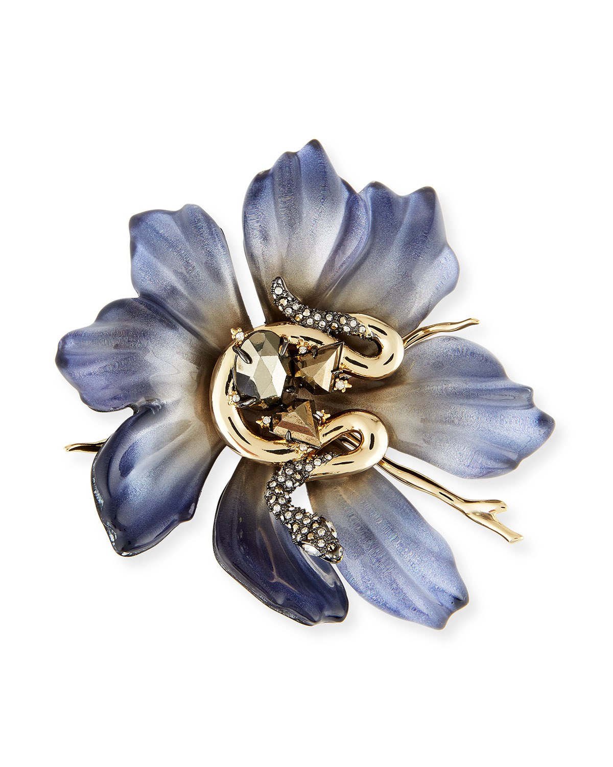 Alexis Bittar Abstract Colorblock Flower Pin Gu4TW