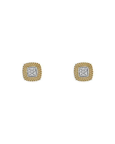 LAGOS 11mm Diamond Lux Stud Earrings