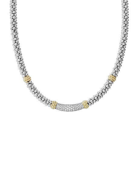 Lagos Caviar Diamond Lux 5mm Necklace, 18