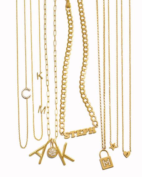 Sarah Chloe Amelia Layered Initial Necklace with Diamonds