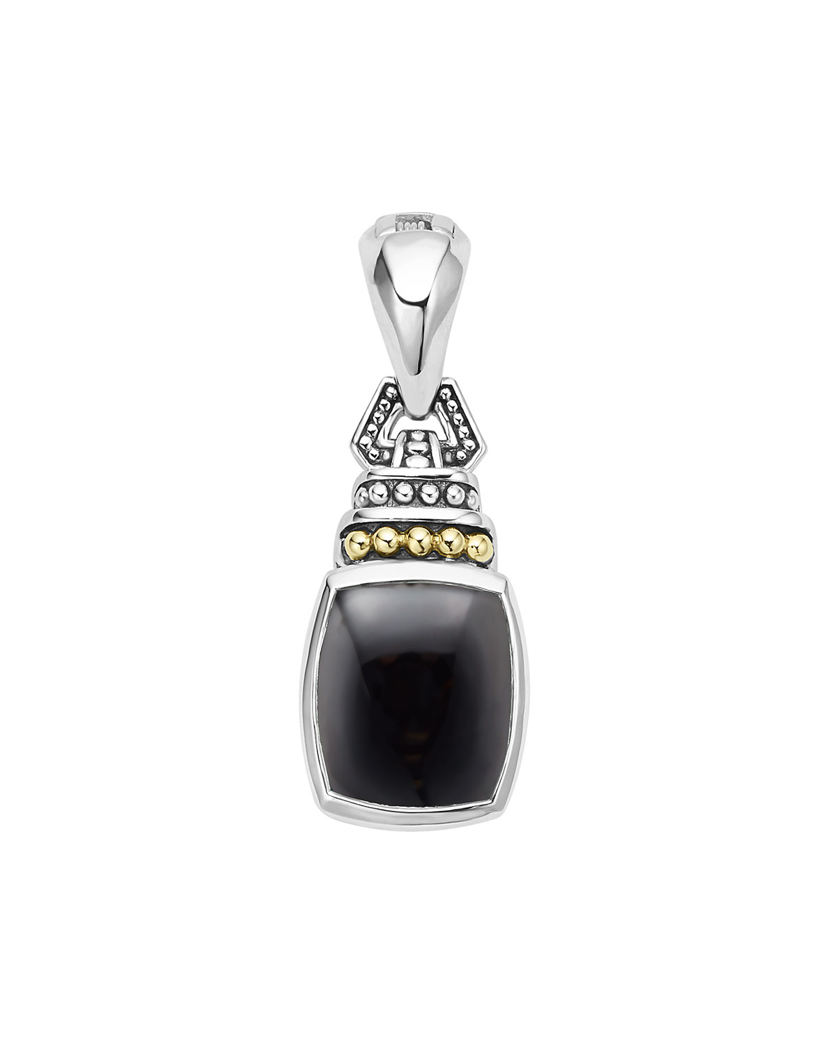 Lagos Caviar Color Pendant with Onyx