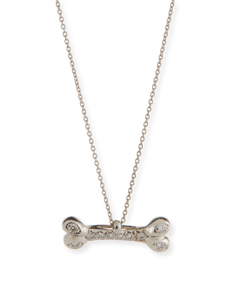Roberto coin dog bone pendant necklace with diamonds neiman marcus dog bone pendant necklace with diamonds aloadofball Gallery