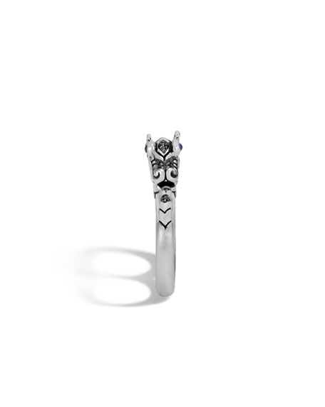 Legends Naga Silver Two-Finger Ring, Size 7