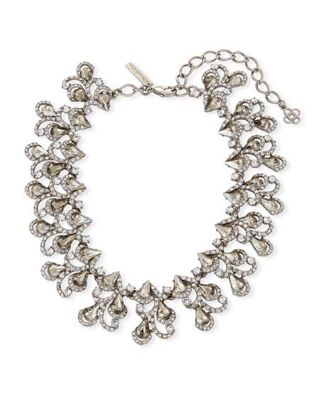 Oscar de la Renta Baroque Crystal Statement Necklace