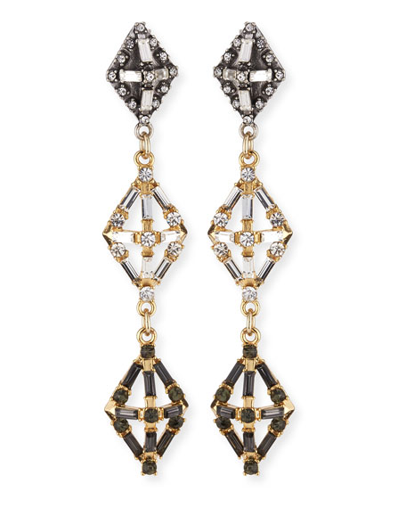 Lulu Frost Gloria Crystal Statement Earrings