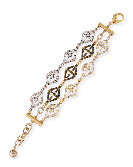 Lulu Frost Gloria Crystal Statement Bracelet In Gold