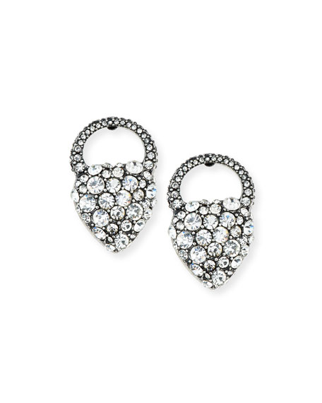 Nina Crystal Heart Stud Earrings