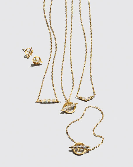 Mio Crystal Bar Stud Necklace