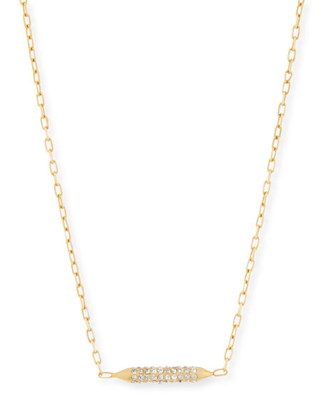 Cyn Mio Crystal Bar Stud Necklace