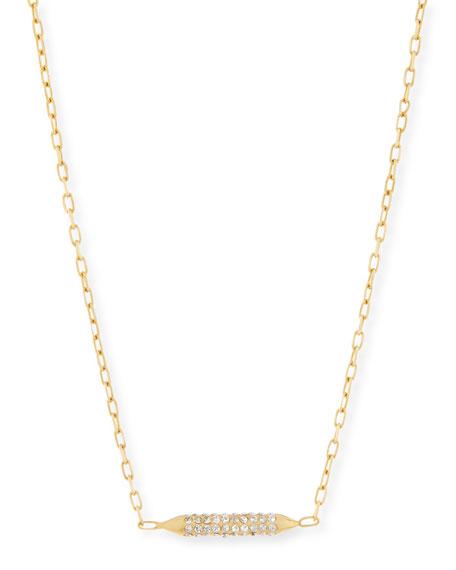 Cyn Mio Crystal Bar Stud Necklace
