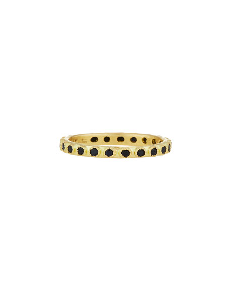 Armenta Old World Black Sapphire Stacking Ring