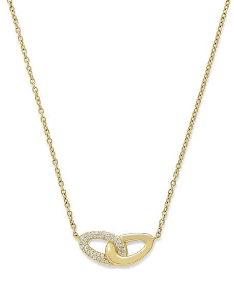 Ippolita 18K Gold Cherish Intertwined Link Necklace with Diamonds