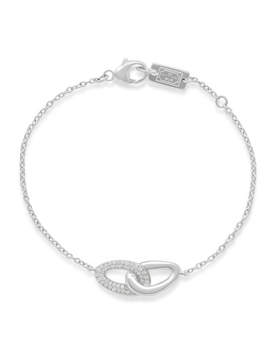 Cherish Silver Link Bracelet with Diamonds