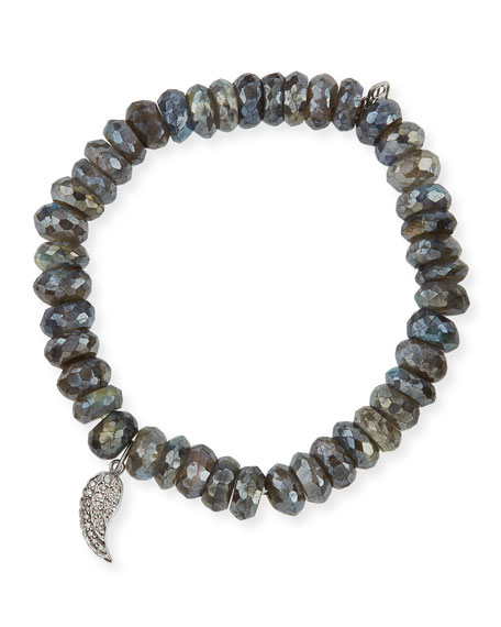 Sydney Evan 8mm Faceted Round Labradorite Beaded Bracelet
