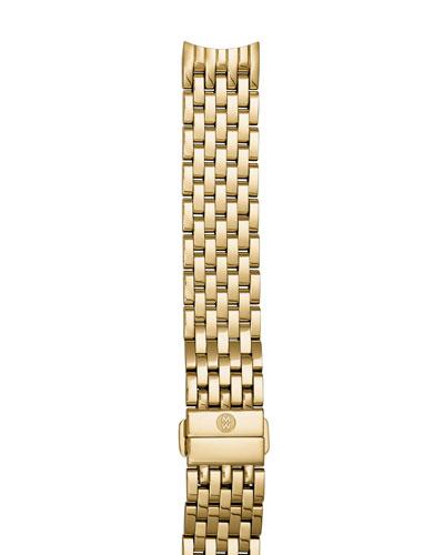 18K Gold-Plated 18mm Seven-Link Bracelet Strap