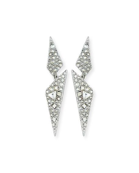 Crystal Encrusted Dangling Drop Earrings, Gold