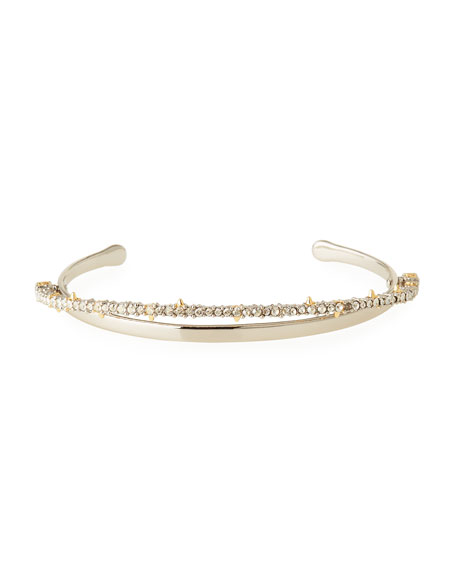 Crystal Lace Orbiting Cuff Bracelet