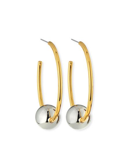 Logo Loop Hoop Earrings