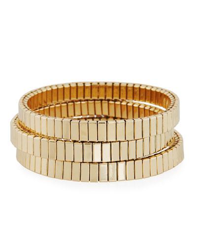 Watch Out Stretch Bracelet  Golden
