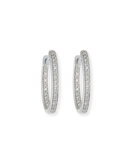 Jude Frances Lisse Small Diamond Hoop Earrings in
