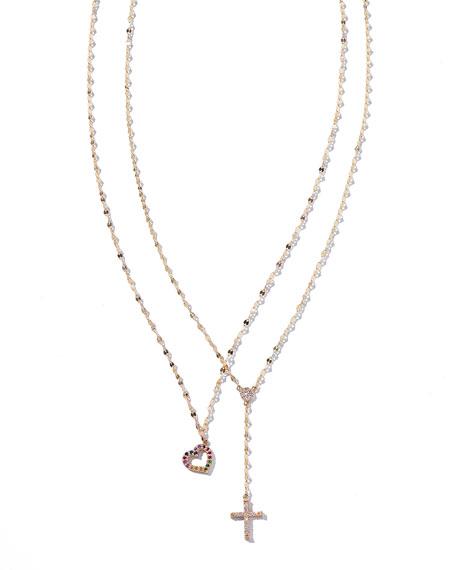Girls' Mini Diamond Crossary Necklace