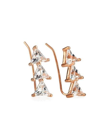 Jennifer Zeuner Chlo White Sapphire Trillion Cluster Earrings