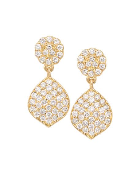 Tiny Pavé Acorn Earrings with Diamonds