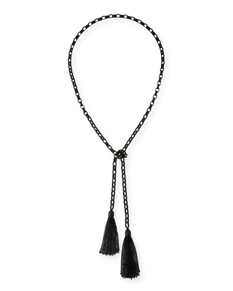 Hipchik Rolo Matte Beaded Chain Lariat Necklace 8lelQ