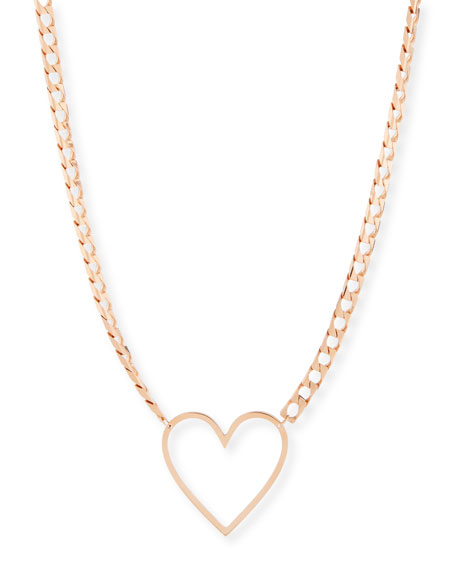 Jennifer Zeuner 18k Yolo Heart Necklace