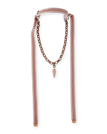 Ada Arrowhead Necklace with Velvet Ties