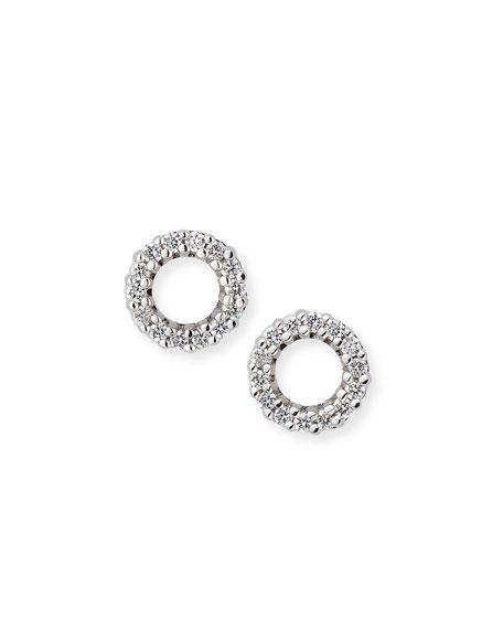 Diamond Circle Mini Studs