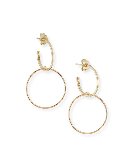 LANA Fifteen 14k Double-Hoop Earrings