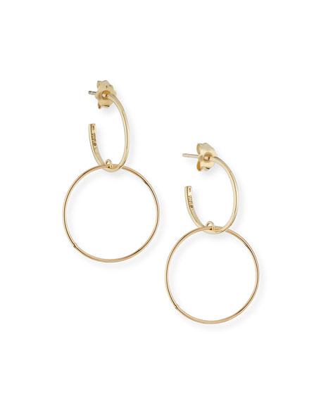 LANA Fifteen 14k Double-Hoop Earrings