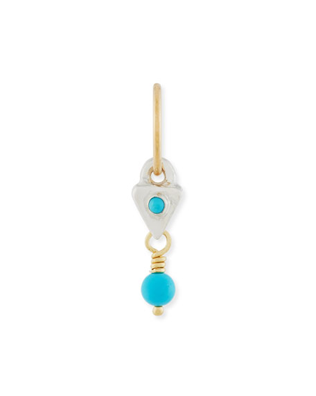 Triangle Drop Single Earring with Turquoise