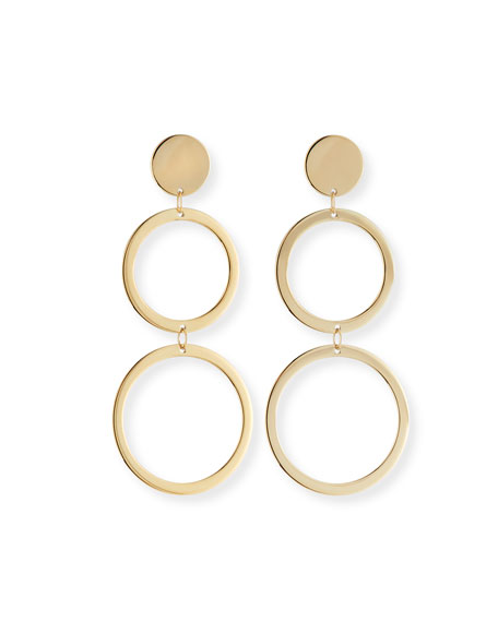 Fifteen 14k Double-Drop Earrings