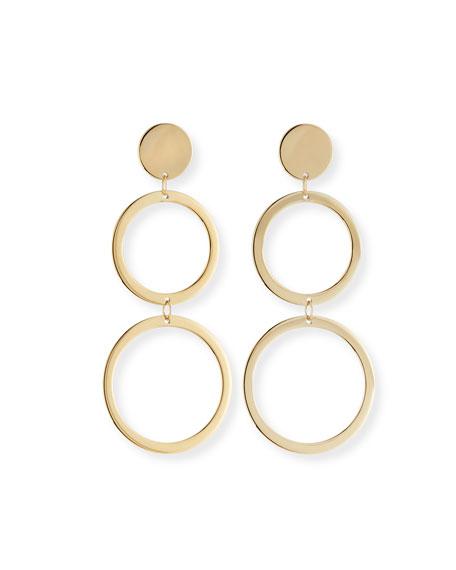 LANA Fifteen 14k Double-Drop Earrings