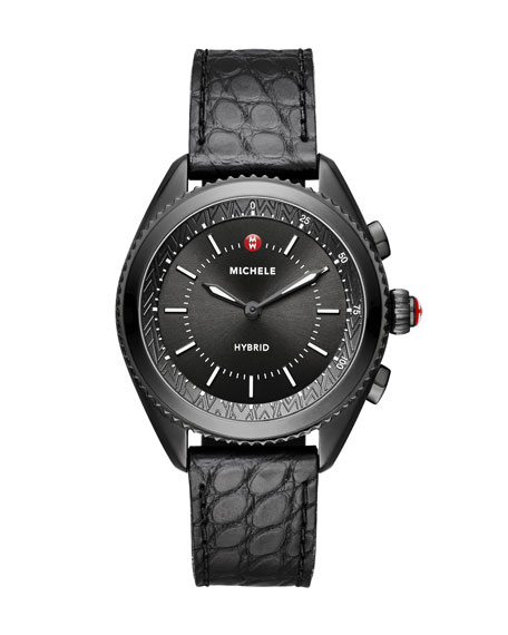MICHELE 38mm Blackened Hybrid Smartwatch