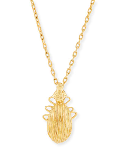 Golden Scarab Pendant Necklace