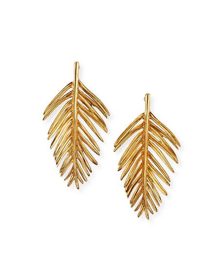 Palm Leaf Drop Earrings