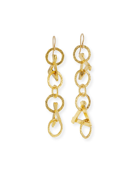 Devon Leigh Triangle Chain Drop Earrings