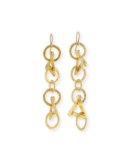 Devon Leigh Triangle Chain Drop Earrings