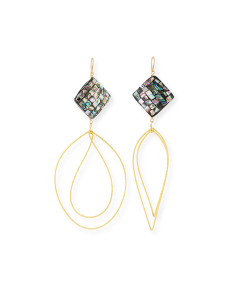 Devon Leigh Pearlescent Wave Drop Earrings