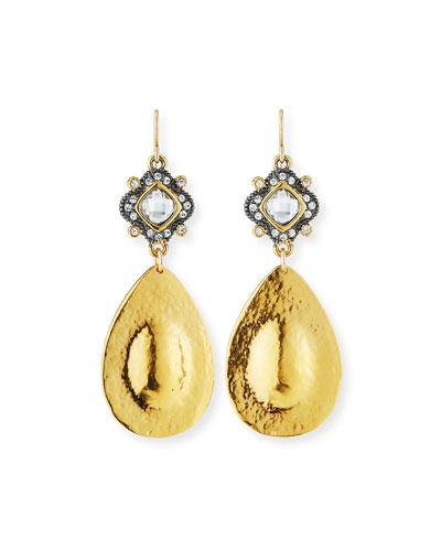 Diamond-Illusion Teardrop Earrings