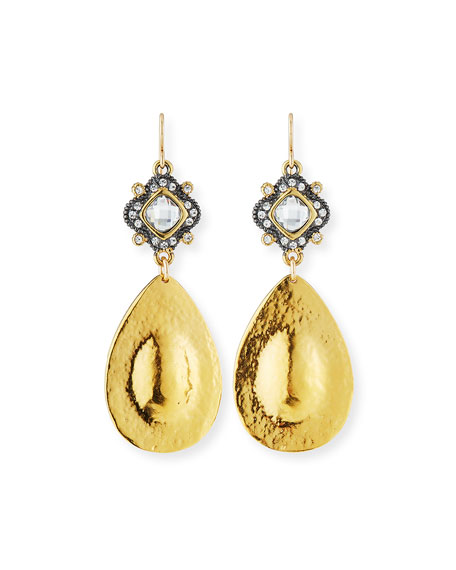 Diamond-Illusion Teardrop Earrings