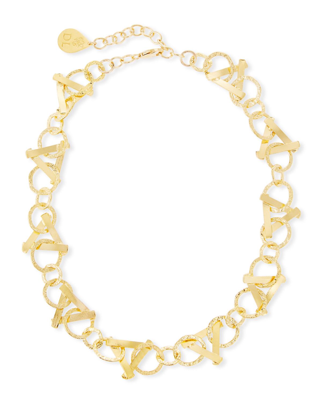 Devon Leigh Short Golden Triangle-Link Necklace Jb2BGxqB5F
