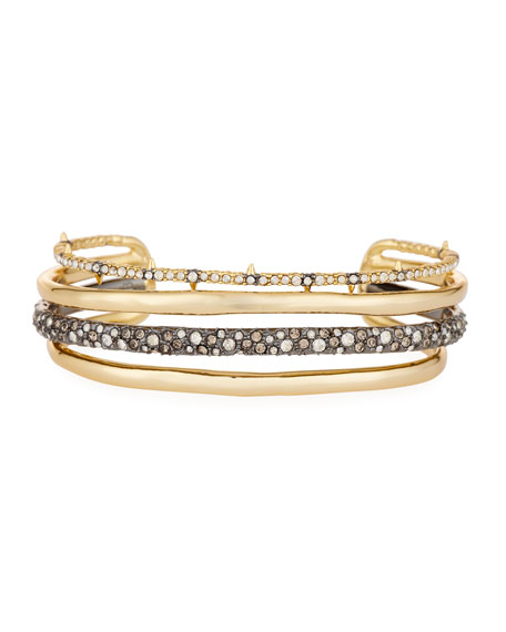 Orbit Four-Row Crystal Cuff