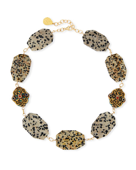 Devon Leigh Animal-Print Choker Necklace