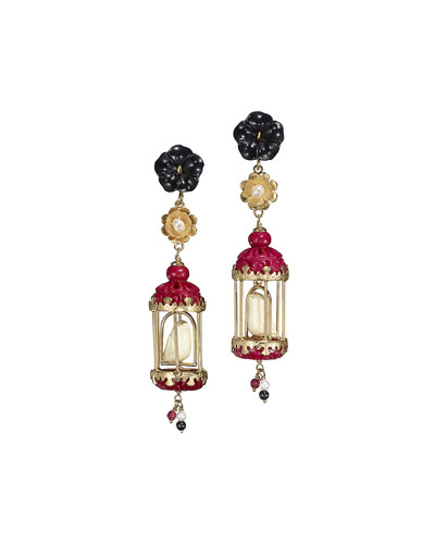 Aviary Classic Onyx & Pearl Drop Earrings