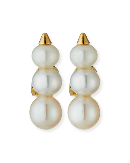 Emi Pearly Stud Spike Earrings